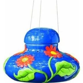Colorful ceramic bird brain hummingbird feeders are still around!