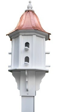 copper roof birdhouse knock-off does not endure over time