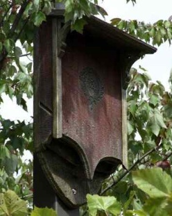 Bat Houses range from simple to ornate and decorative shelters
