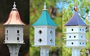 larger copper roof birdhouses