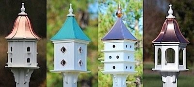 Dovecote Birdhouses from small to tall