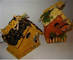 Birdie Cottages are an edible birdhouse set providing good food, fun and shelter for birds