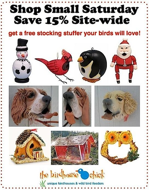 Holiday Wood Birdhouses are handcrafted and Bring Big Smiles... for birds too!