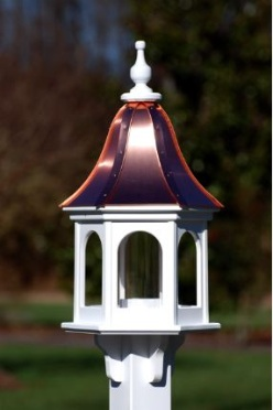 Unique Bird Feeder in Copper and Vinyl