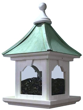 Vinyl Birdhouse-feeder in hanging, large capacity design