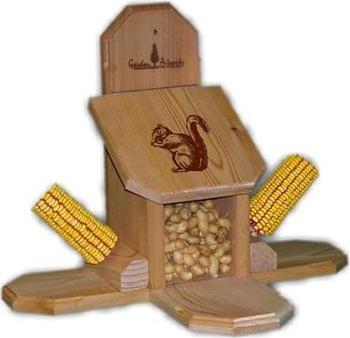 Combo Corn Cob and Peanut Squirrel Feeder