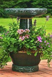 birdbath & planter