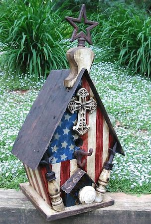 In honor of veterans- patriotic Decorative Bird Houses