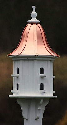 copper roof birdhouses rock as holiday gifts