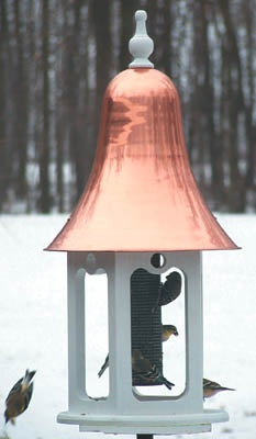 Non-porous wild bird feeders are easier to clean