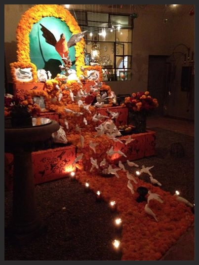 Parasol's passenger pigeon altar