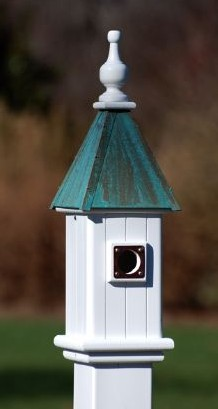 Vinyl bluebird houses will last a lifetime