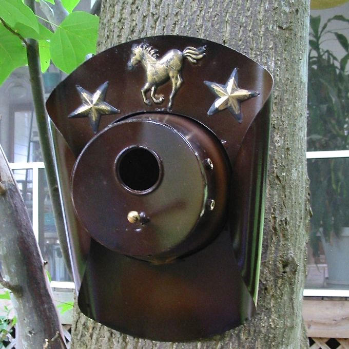Large Cowboy Hat Unique Birdhouse