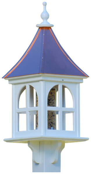 Copper Bird Feeder is Vinyl/PVC