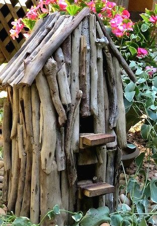 Natural Driftwood Birdhouse