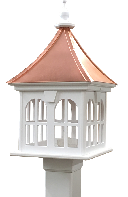 Copper-and-PVC-Bird-Feeder with Architectural Design
