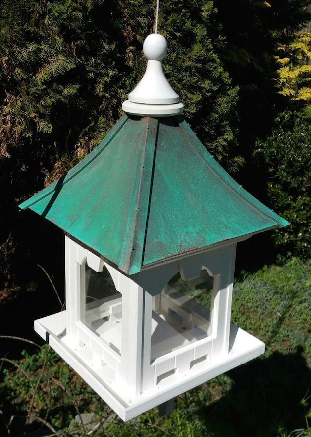 large capacity hopper bird feeder