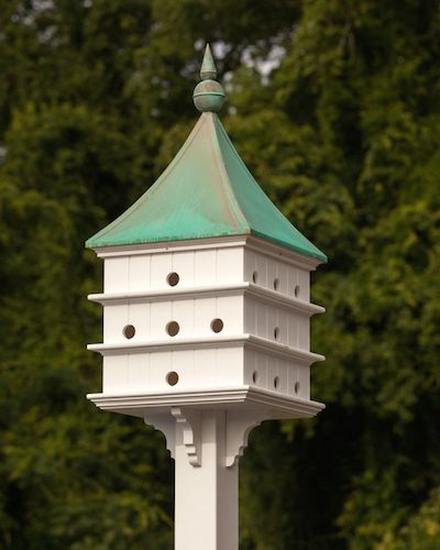 Copper Roof Birdhouses with two roof options