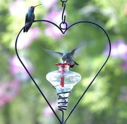 Valentine-theme unique bird feeder