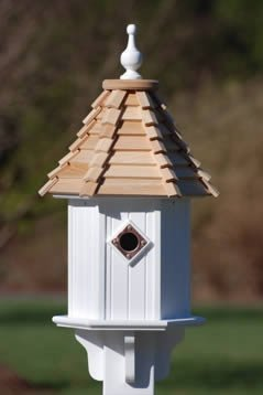 Birds prefer to build their own nest inside a birdhouse