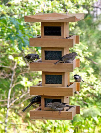 Hanging Pagoda Bird Feeder