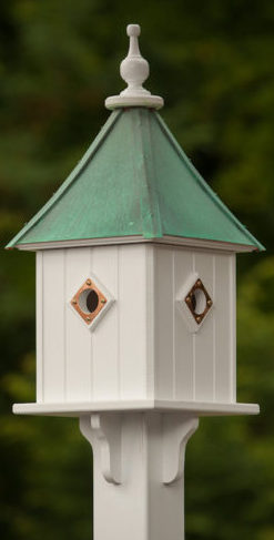Copper and Vinyl Birdhouses with wood-like texture