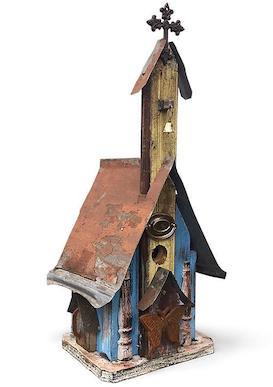 Barn Wood Church Birdhouse