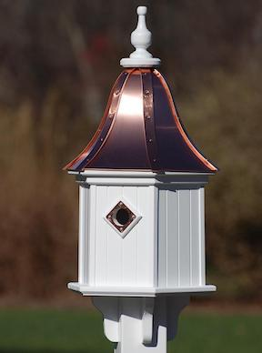 Copper-Vinyl Birdhouse